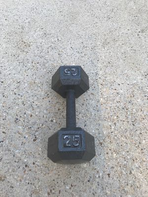 Single 25lbs dumbbell for Sale in Fort Washington, MD