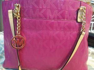 Michael Kors Jet Set Chain Tote Pink Patent Leather MK Monogram Shoulder Bag for Sale in Dunedin, FL