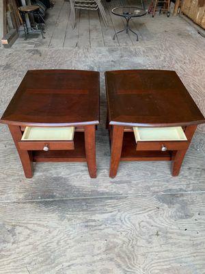 2 wooden side tables for Sale in Roanoke, VA