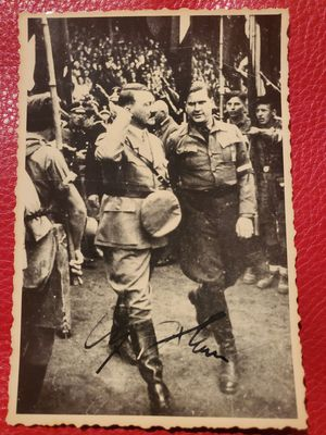 WW2 ORIGINAL 1938 Photo signed by Adolf Hitler for Sale in Chicago, IL