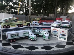 Vintage Hess Truck Toy Truck Lot Collection 7 NIB Truck Car Van Helicopter 1990s 2000s vtg for Sale in Beachwood, NJ