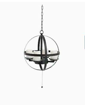 allen + roth-Light Dark Brown Modern/Contemporary Chandelier for Sale in Dallas, TX