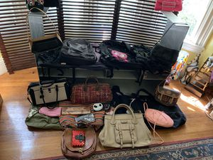 Purses, backpacks, satchel bags (Chloe Edith satchel, Clever Carriage satchel), and lots more in bulk for Sale in Boston, MA