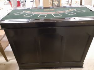 Bar with interchangeable casino game boards for Sale in Norfolk, VA