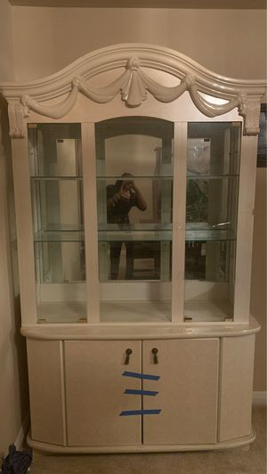 All white china cabinet for Sale in Baltimore, MD