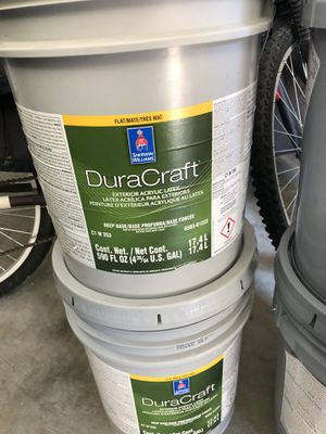 Exterior flat- white ( 2 buckets ) for Sale in Lithia Springs, GA