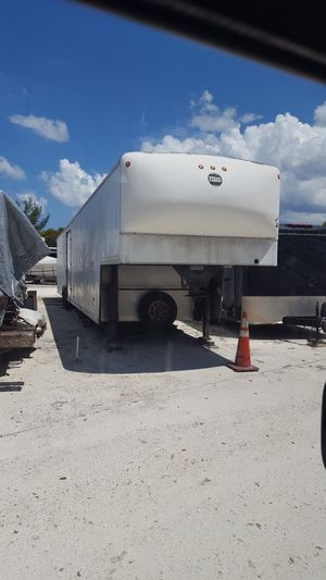 48ft Wells Cargo enclosed car hauler 5th wheel/goose neck trailer.. for Sale in Lake Worth, FL