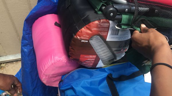 Swim stuff and brand new camping items