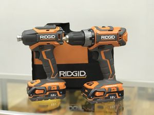 Ridgid 18v Brushless Drill & Impact Driver Combo Kit for Sale in Framingham, MA