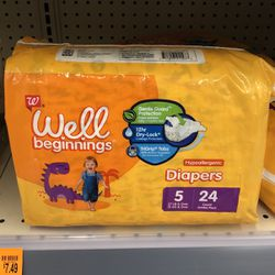 Walgreens Well Beginnings Size 5 Diapers 48 Count Total for Sale in Malden,  MA