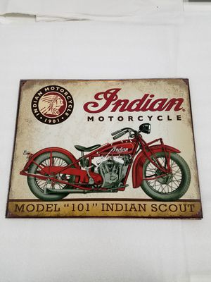 Indian motorcycle bike scout metal sign for Sale in Vancouver, WA