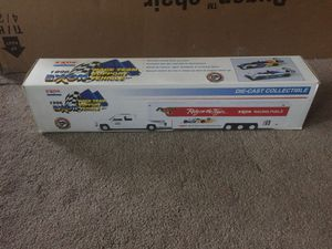 1996 Exxon toy hauler truck has two race cars in side . Brand new never out of the box only for theses photos!! for Sale in Wilmington, DE