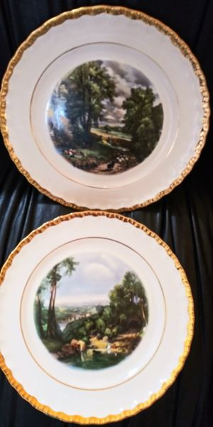 "2 Royal Crown Antique / Vintage 22 karat gold Porcelain china Plates 10"" for Sale in Pompano Beach, FL"