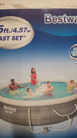 """USED Bestway 15' x 42"""" Deep Swimming Pool for Sale in Tracy, CA"""
