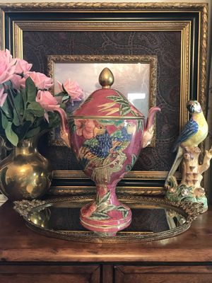 This urn literally stopped me in my tracks! I have never seen anything like it before. It is decorated with the most beautiful combination of colors, for Sale in Norcross, GA