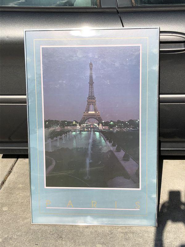 Framed poster Eiffel Tower