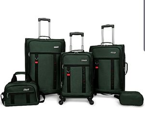 Coleman utility 5 piece spinner luggage set for Sale in Bakersfield, CA