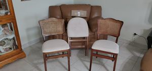 folding antique chairs free delivery for Sale in Greenacres, FL