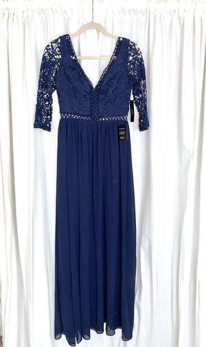 Dark Blue Lace Maxi Dress Small for Sale in Newark, CA