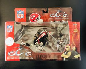 Kansas City Chiefs NFL Football Orange County Choppers 1:18 Scale Motorcycle Model Toy by Ertl Collectibles Display - BRAND NEW!! for Sale in Citrus Heights, CA