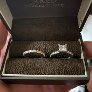 Gia New Certified 2.09 Carrt Princess Cut Wedding Set for Sale in Woodbridge, VA