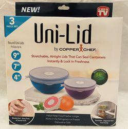 Copper Chef Uni-Lid 3 Piece Set *NIB* for Sale in San Antonio,  TX