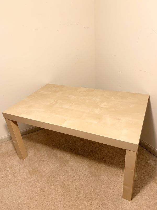 Beige Wood Coffee Table