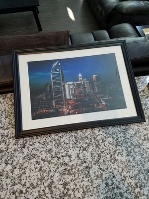 Charlotte photograph framed and matted for Sale in Charlotte, NC