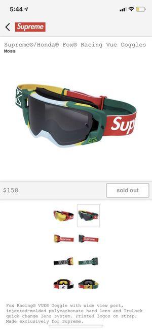 Supreme X Fox Racing Honda Goggles Moss for Sale in Alexandria, VA