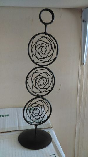 Black Swirl Metal Stand for Sale in Shady Shores, TX