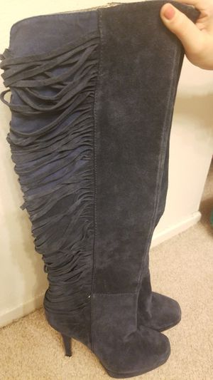 Gorgeous velvet navy aldo boots for Sale in Farmington Hills, MI