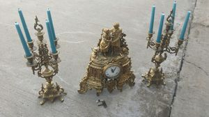 Imperial mantle clock with set candelabras and winding key. for Sale in Plano, TX