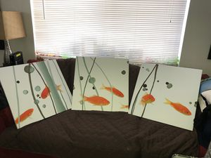 """3 Gold fish picture frames 2"""" wide 2"""" long for Sale in Miami, FL"""