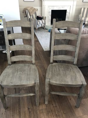 Pottery Barn Dining Chairs Qty 2 $200 for Sale in Seattle, WA