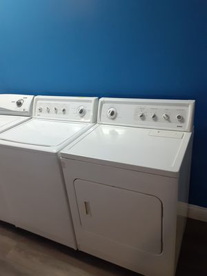 Kenmore top load washer and dryer set working perfectly 4 months warranty for Sale in Baltimore, MD