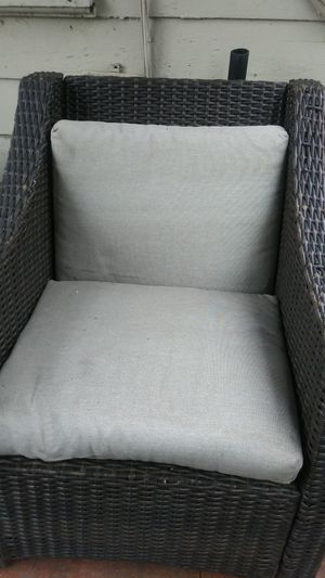 4 Wicker Chairs needs new cushions for Sale in Hayward, CA