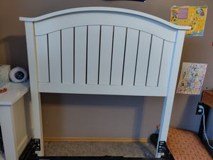 Twin Headboard, Box Spring, and Rails for Sale in Puyallup, WA