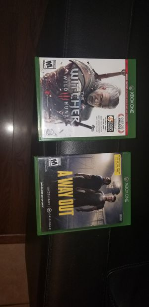 Witcher 3 and A Way Out New Game CD's 2 for $30 for Sale in Albuquerque, NM