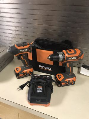Ridgid 18volt Drill/Driver and Impact Driver Combo Kit for Sale in Norfolk, VA