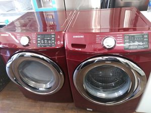 Red-Front Load Samsung Washer & Dryer for Sale in Chino Hills, CA