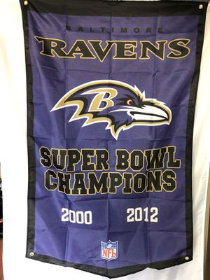 Baltimore Ravens Champions Wall Banner (3'x5') for Sale in Tinley Park, IL