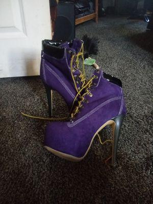 High heels purple combat boots for Sale in Abilene, TX