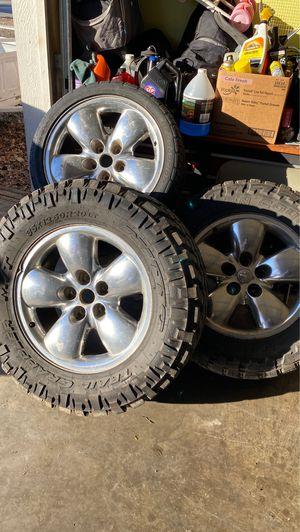 Dodge Ram wheel and tires (set of 3) for Sale in Farmington, AR