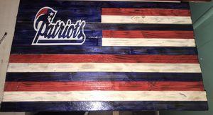 Patriots wood flag for Sale in Fort Meade, FL