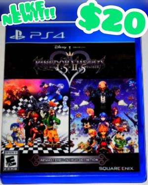 LIKE NEW!!!!! Kingdom Hearts HD 1.5 + 2.5 Remix (Sony PlayStation 4, 2017) for Sale in Las Vegas, NV