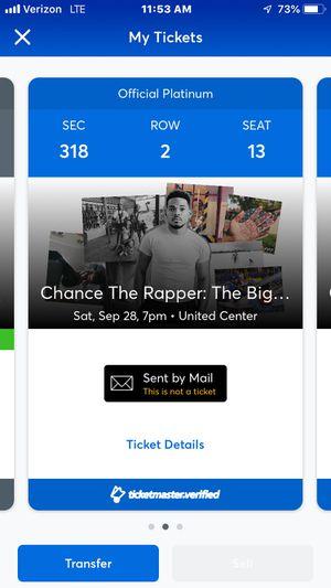 Chance The Rapper Tickets for Sale in Aurora, IL