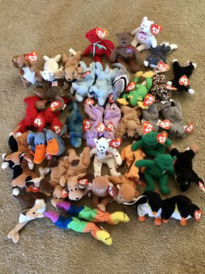 Teeny Beanie Babies! 5 are still in the original packages! $20 for all 45 OBO for Sale in Boring, OR