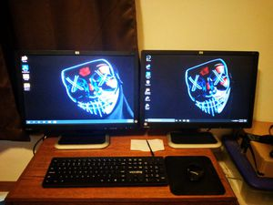 "2 hp 22"" 2208w monitors for Sale in Fraziers Bottom, WV"
