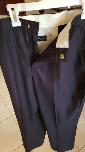 2 black striped pants Van's heusen size 14. Only for pick up. No lower prices for Sale in Miami, FL