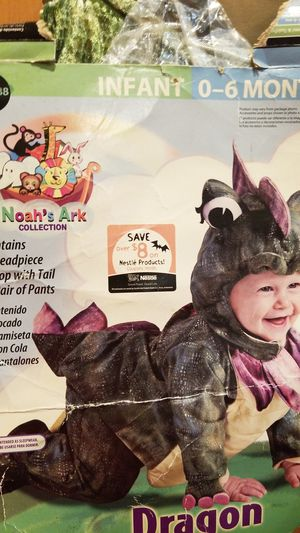 Dragon baby Halloween costume, Infant 0 deaths 6 months new for Sale in Riverside, CA